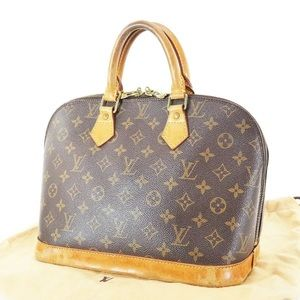 Authentic LOUIS VUITTON Alma Monogram Hand Bag